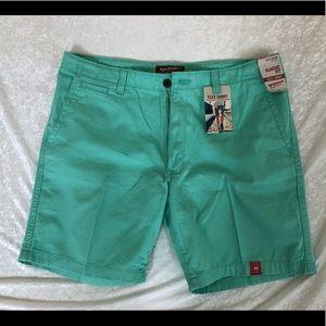 NWT Men's Arizona Flex Shorts in Mint Green